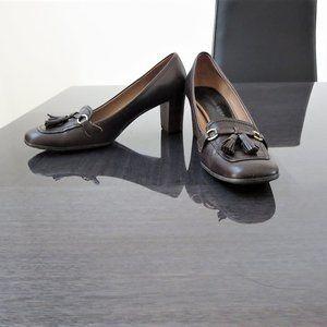 Aigner Leather NECTAR Heels Square Toe Kiltie
